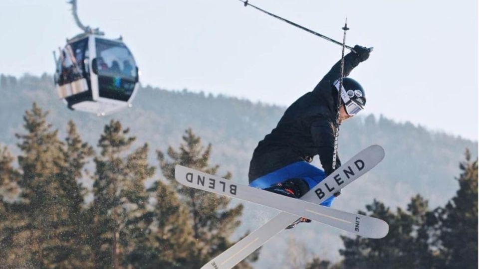 Манжерок. Лыжник