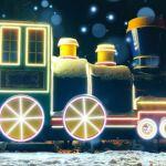 Полюбившийся барнаульцам паровозик снова сияет праздничной иллюминацией