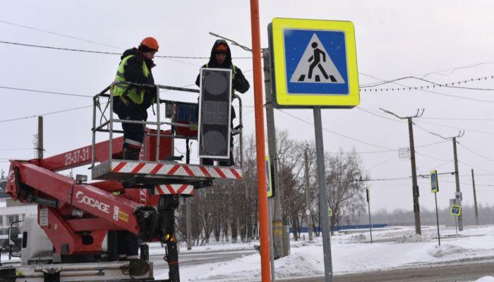 За 2020 год в Барнауле установили 11 новых светофорных объектов