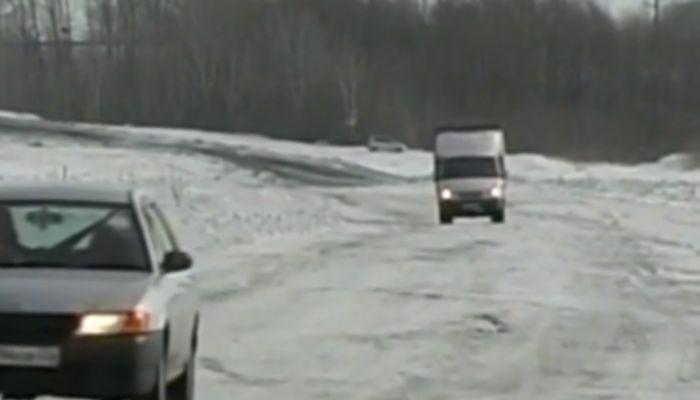 В Камне-на-Оби открыли ледовую переправу через Обь