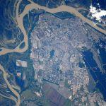 Космонавт Олег Артемьев показал вид Барнаула из космоса