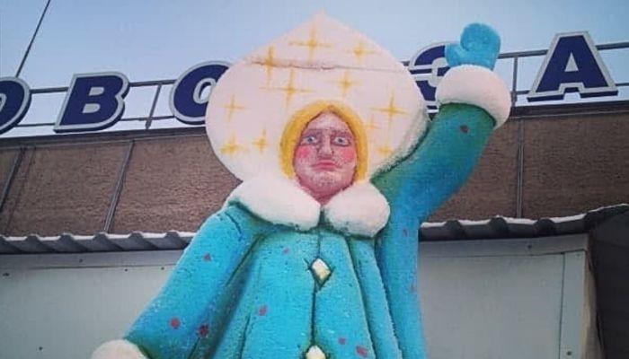 Была ли Снегурка: власти Барнаула отрицают существование фигуры у автовокзала
