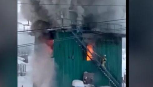 На горнолыжном курорте в Шерегеше произошел пожар