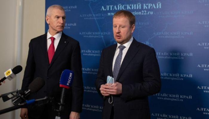 О чем Виктор Томенко попросил министра спорта России Олега Матыцина