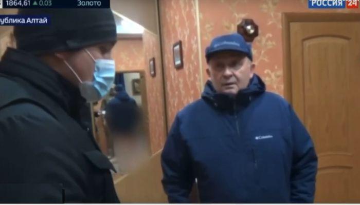 Появилось видео задержания бывших алтайских чиновников Пальталлера и Нечаева