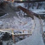 В Барнауле соорудили временный мост на Челюскинцев после жалоб горожан