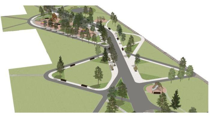 Архитектор показал проект зеленого сквера в поселке Южном