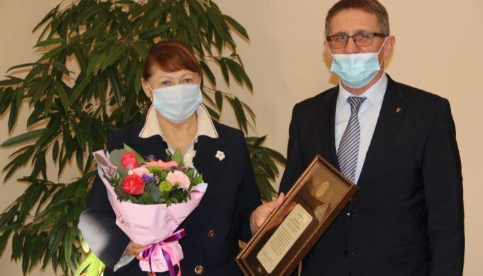 Главу компании Эвалар Ларису Прокопьеву наградили почетной грамотой ТПП России