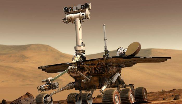 На Марсе высадился американский марсоход и вертолёт
