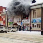 Видео изнутри горящего ТЦ Горно-Алтайска появилось в Сети