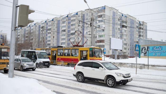 В Барнауле встали трамваи из-за упавшего на провода дерева