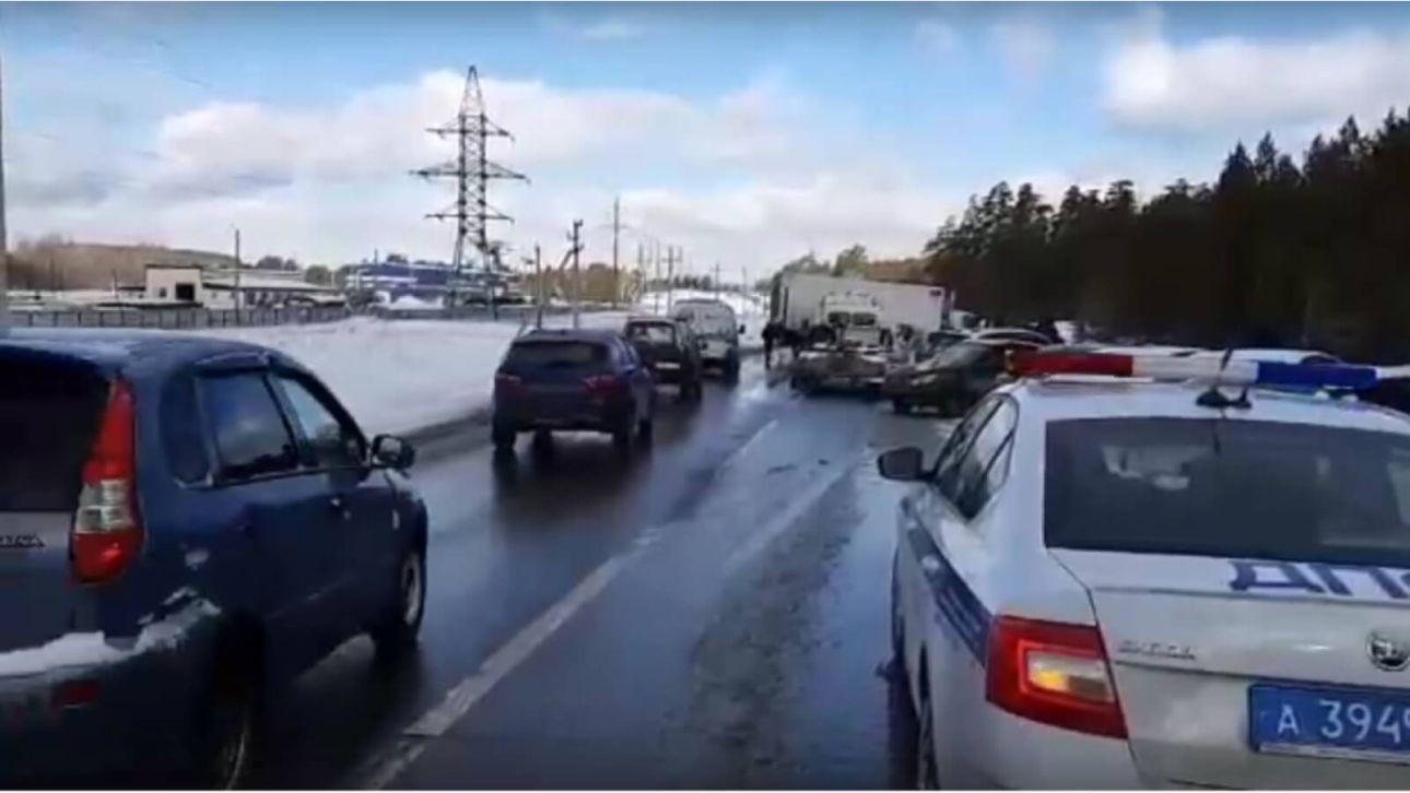 Появилось видео с места смертельной аварии под Самарой