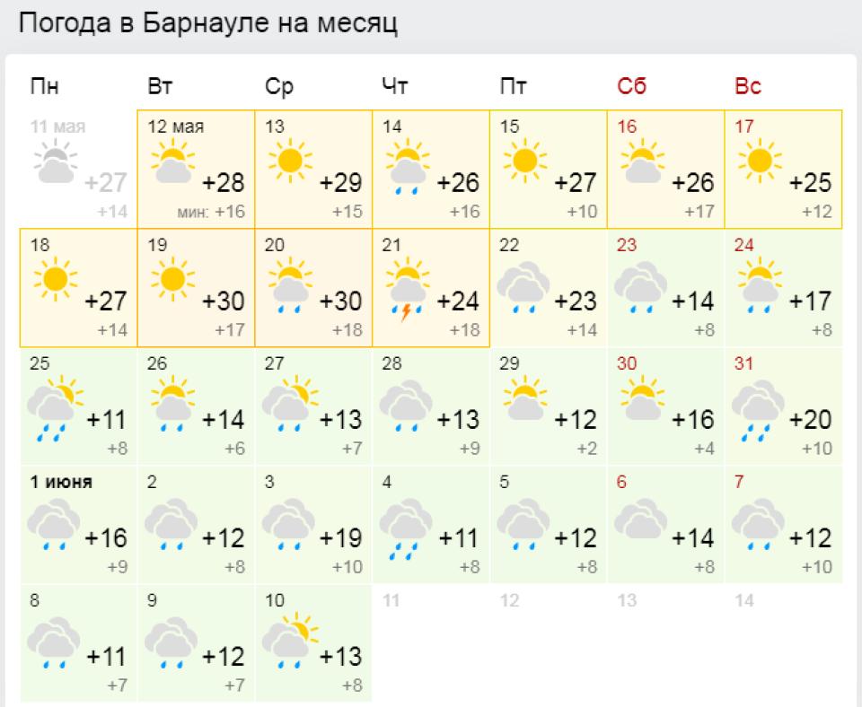 Жару до +35° и шквалистый ветер с грозами прогнозируют синоптики на Алтае