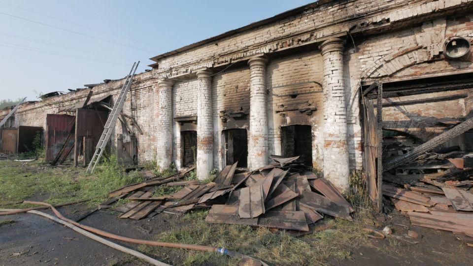Вторая плавильная фабрика после пожара