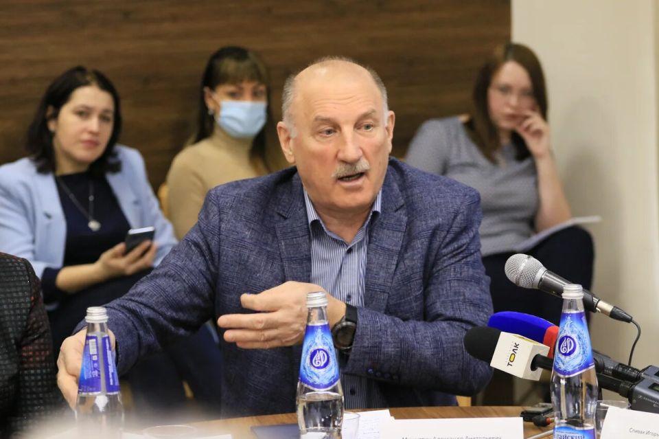 Александр Мишустин, председатель правления Союза строителей Алтайского края