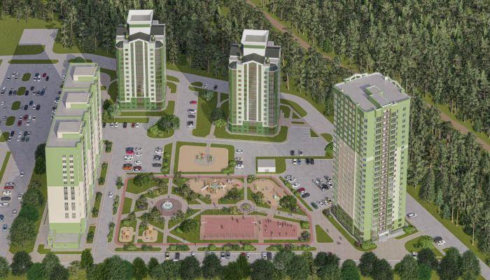 В Барнауле построят микрорайон со своим фонтаном и просторным паркингом