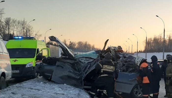 В Новосибирске произошла массовая авария - есть жертвы
