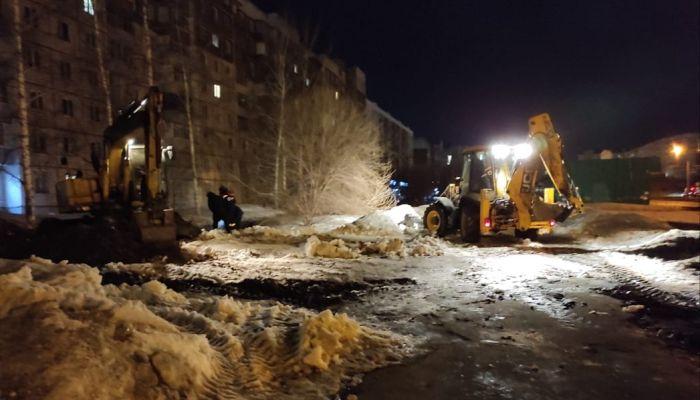 Две коммунальные аварии произошли в Барнауле минувшей ночью