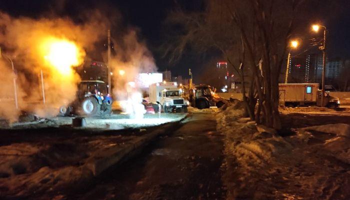 В Барнауле устранили порыв водопровода в центре города