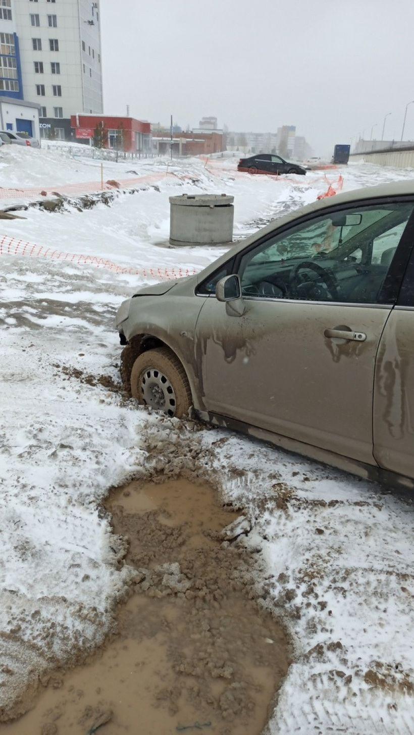 """Дороги. Грязь Фото:""""Инцидент Барнаул""""/""""ВКонтакте"""""""