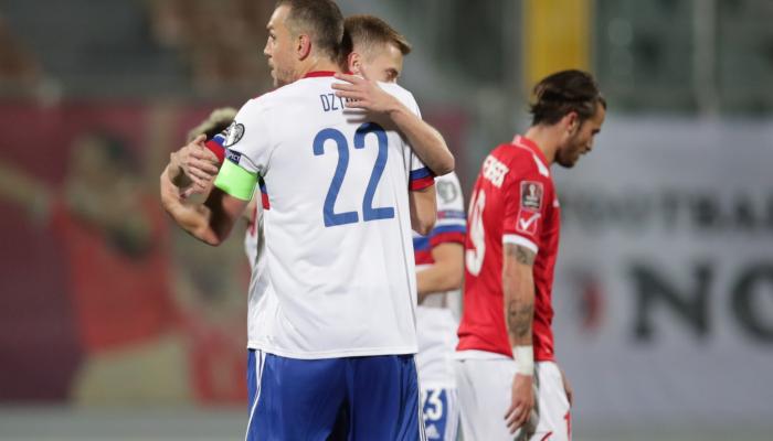 Сборная России обыграла Мальту в отборочном этапе ЧМ-22