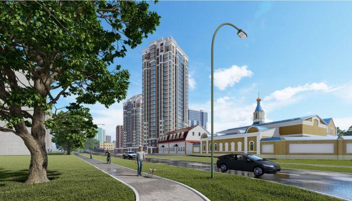 Застройщик показал проект гигантского ЖК за Сити-центром в Барнауле
