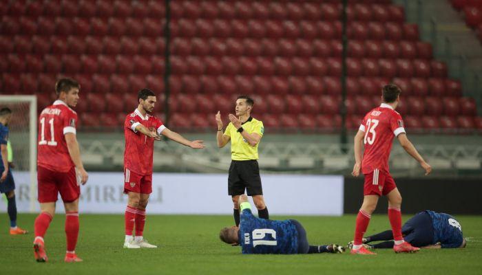 Сборная России по футболу уступила Словакии в отборочном матче