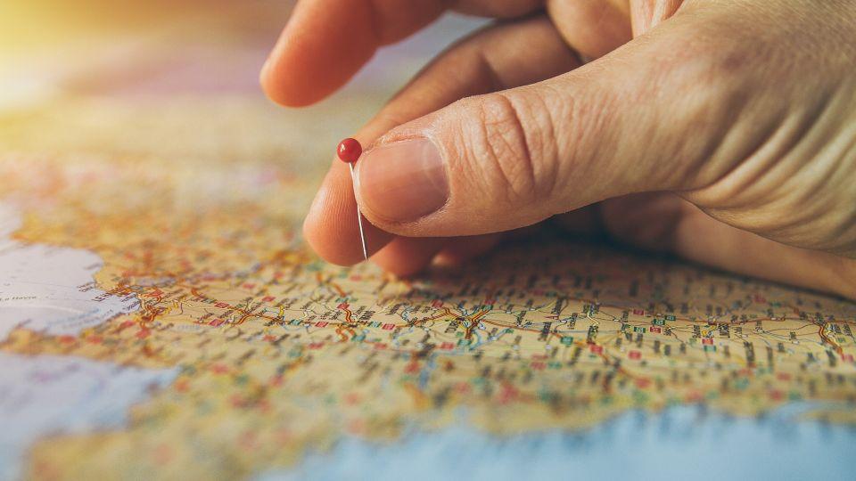 Туризм. Карта