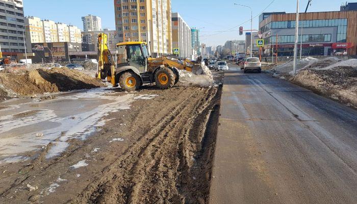 В Барнауле начали обустраивать еще один проезд к ЖК Адмирал