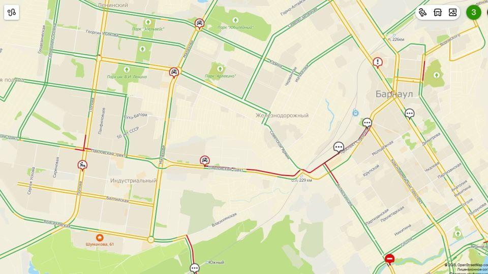 Карта дорожных пробок