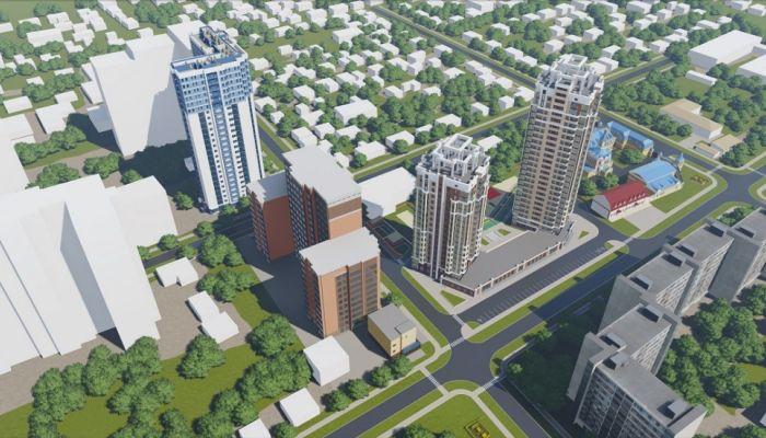 В центре Барнаула появится небоскреб с 200-метровыми квартирами и садом