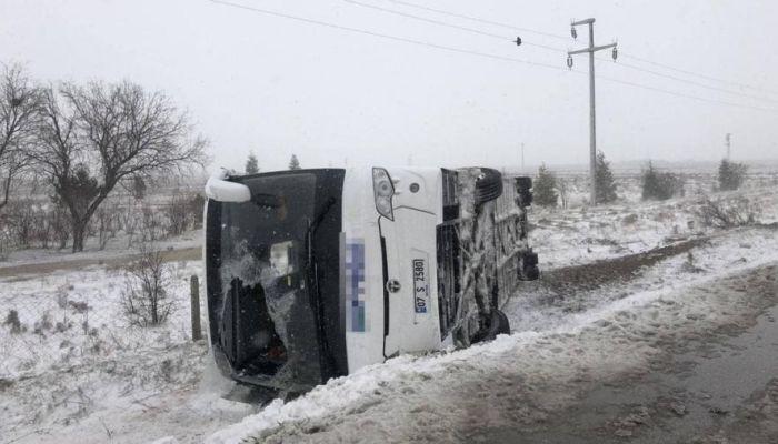 Появилось видео с места крушения автобуса с российскими туристами в Турции