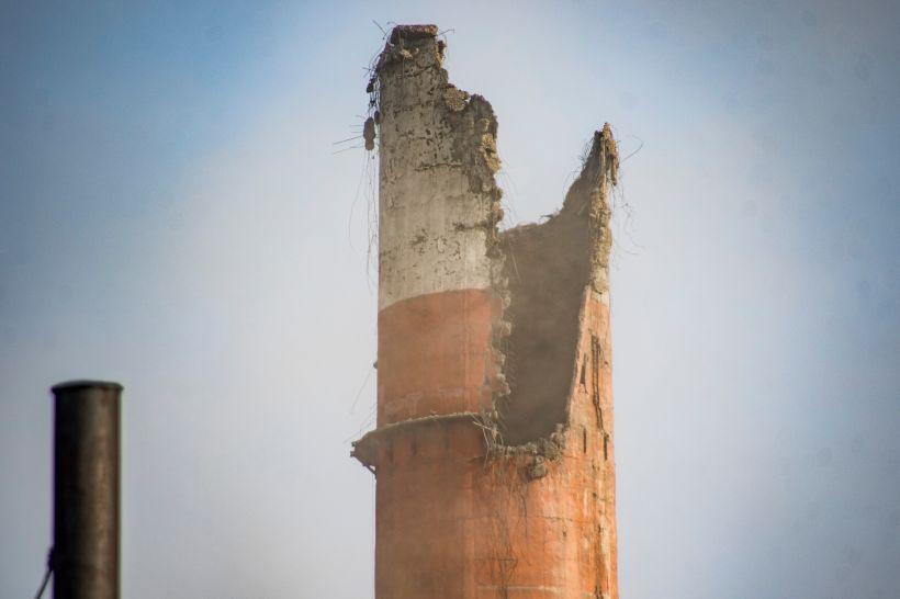 ТЭЦ-2 после обрушения трубы. Фото:Виталий Барабаш