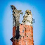 В Барнауле демонтируют разрушенную на ТЭЦ-2 дымовую трубу