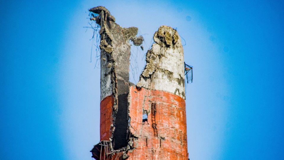 ТЭЦ-2 после обрушения трубы.