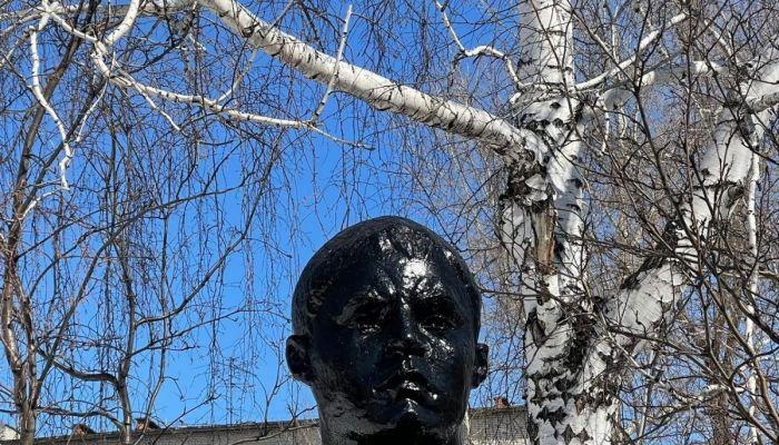 Барнаульскую гимназию заставили закрасить blackface на бюсте Матросова