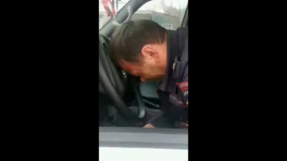 Спящий майор полиции