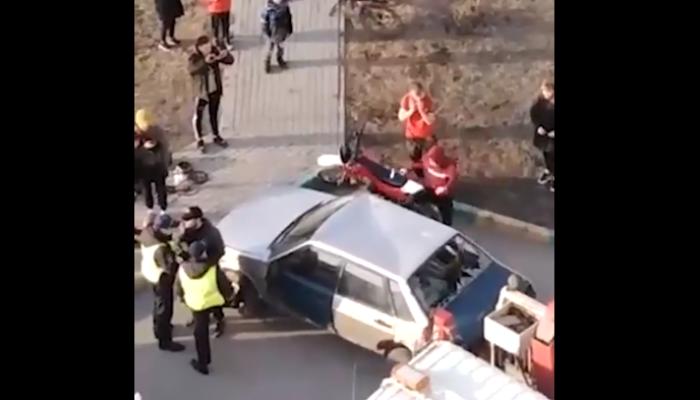 Барнаулец разбил свою машину, чтобы ее не забрал эвакуатор