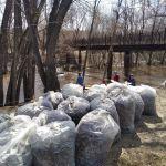 В Барнауле очистили берег реки и устроили экологический сплав