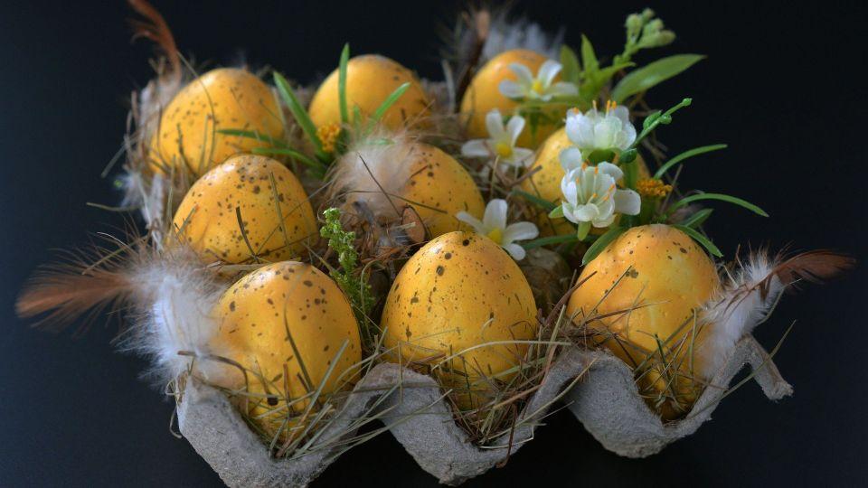 Крашеные яйца. Пасха