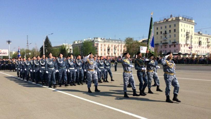 Парад Победы 9 Мая 20212 года в Барнауле Фото:Виталий Барабаш