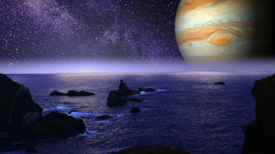 Планета. Космос. Вода. Юпитер