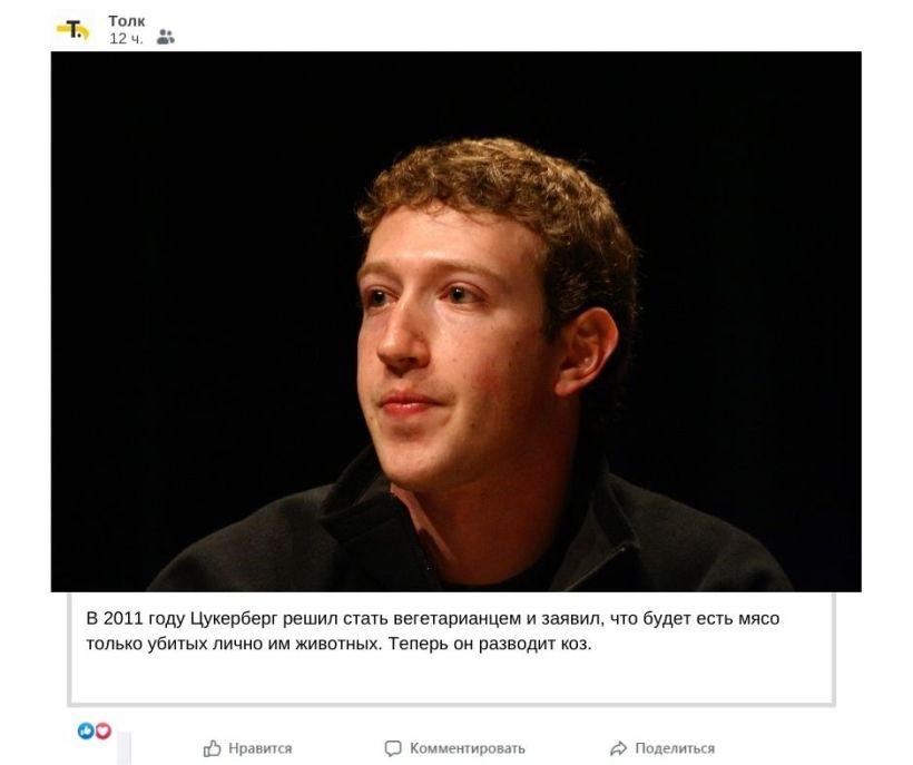 Факты о Марке Цукерберге Фото:Мария Трубина