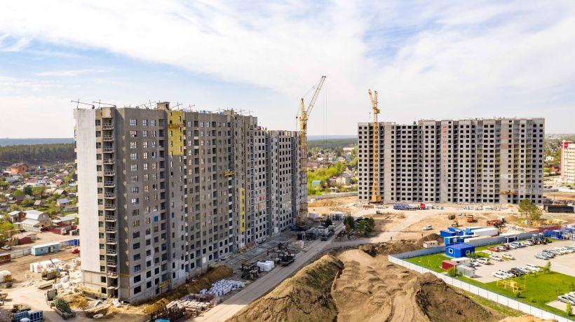"""Сити квартал """"Мичурин парк"""" и """"Ютссон"""". Май 2021 года  Фото:Виталий Барабаш"""