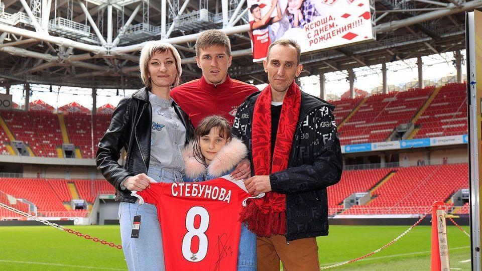 Александр Соболев и семья Стебуновых