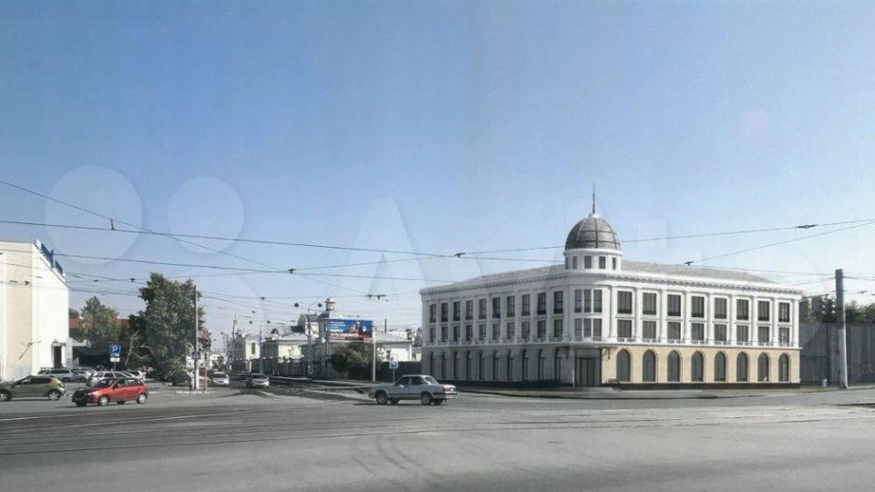 Эскиз здания на ул. Ползунова, 43
