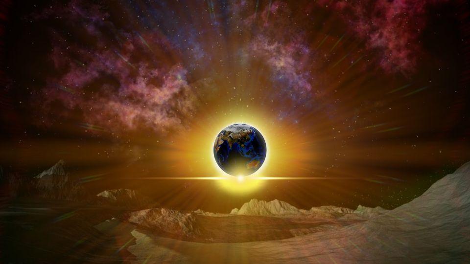 Планета. Затмение. Космос