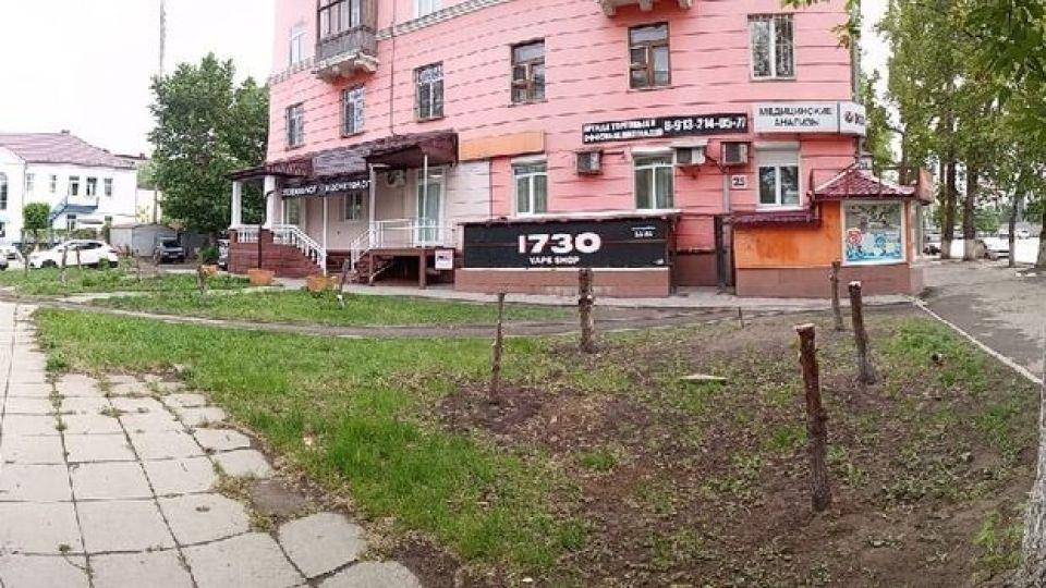 Рубки деревьев в центре Барнаула