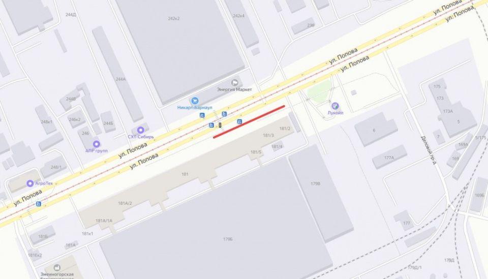 СГК заменит два участка тепломагистрали на Попова в Барнауле