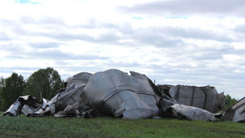 Последствия урагана в Старой Тарабе.